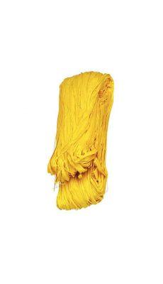 Raphia vegetal jaune - pelote de 50g
