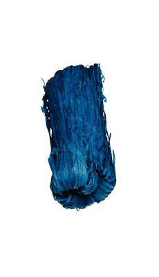Raphia vegetal bleu - pelote de 50g