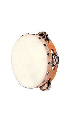 Tambourin peau + cymballettes d.15cm