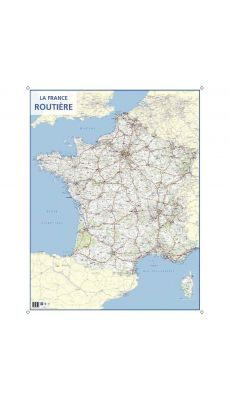Carte souple murale france routiere