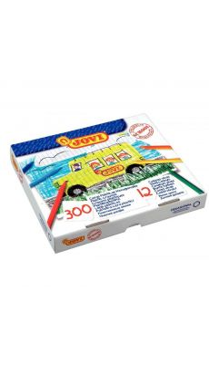 Crayon de couleur plastique assorti - boite de 300