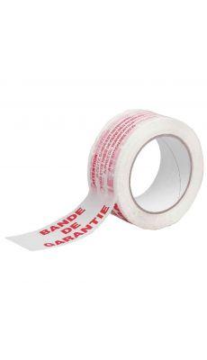 """Adhesif Imprimé """" bande de garantie """" 66mx50mm - Lot de 6"""