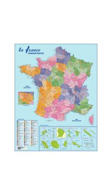 SAFETOOL - Carte souple murale france departement
