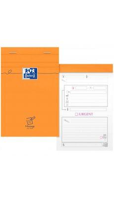 OXFORD OFFICE - 06293 - Bloc messages téléphoniques 80 feuilles micro perforées détachables. Format 11x17 cm