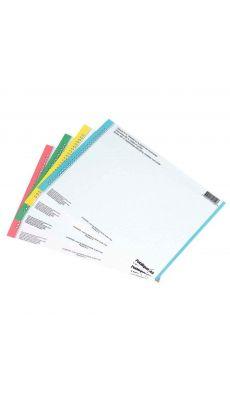 L'OBLIQUE - 120500 - Etiquette N° 0 pour Dossier suspendu tiroir - Assortie - Paquet de 10 Planches