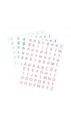 Gommettes alphabet - Blister de 320
