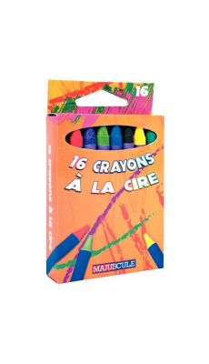 Crayon a la cire 9cm - boite de 16