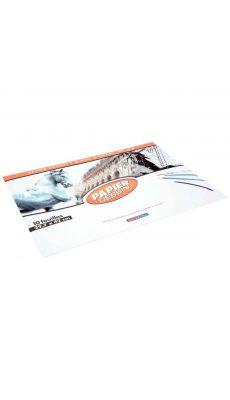 Papier dessin 180g 29,7x42 blanc - pochette de 10