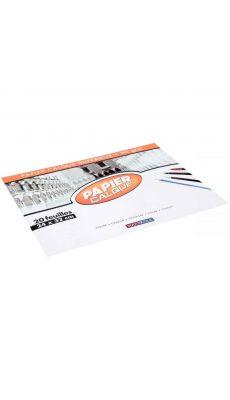 Papier calque 90g 24x32 - Pochette de 20 feuilles