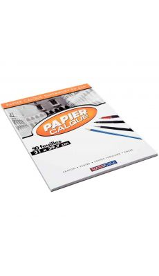 Papier calque uni 90g A4 - bloc de 50 feuilles