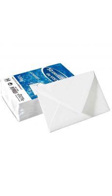 Enveloppe visite dbl120 g gommees doublee - Paquet de 50