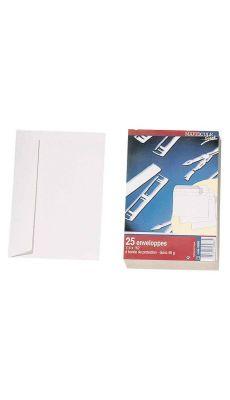 Enveloppes C6 90g bs blanche - Paquet de 25