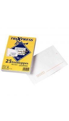 LA COURONNE - 25604 - Enveloppe La couronne blanche C6 80g bandes detachables - Paquet de 25