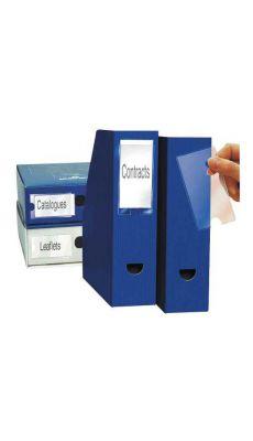 Porte étiquette 3L adhésive polypropylène 55x150 - Blister de 6