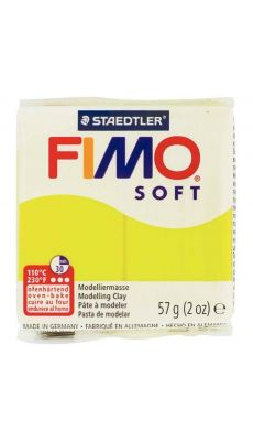 Pâte à modeler Fimo Soft, 57 grammes, citron