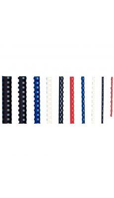 Anneaux pour reliure d16 bleu - boite de 100