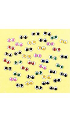 Paires yeux mobiles assorti - sac de 50