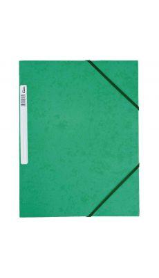 Chemise 3 rabats à elastique + etiquette grainée vert