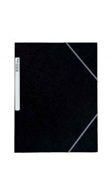 Chemise 3 rabats à elastique + etiquette grainée noir