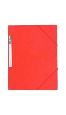 Chemise 3 rabats à elastique + etiquette grainée rouge
