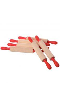 Rouleau de modelage en bois - Lot de 5