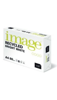 Ramette 500F Papier 100% Recyclé Image Recycled Bright White A4 80G extra blanc