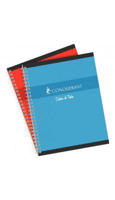 Conquerant - 780 - Cahier de texte spirale grand carreaux - 17x22 cm - 124 Pages