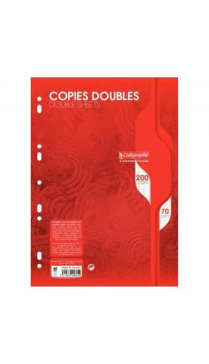 Clairefontaine - 5615 - Copie double grand carreaux blanc perforée A4 - Sachet de 50