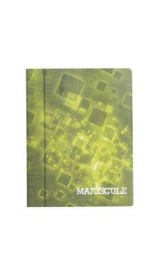 Cahier piqures grand carreaux 17x22 140p 90g