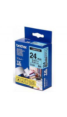 Brother - TZE-551 - Recharge ruban noir et bleu 24mm