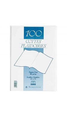 Exacompta - 820017E - Sous-chemise cote de plaidoirie blanc 90g - Paquet de 100