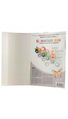 Feuille plastique fou transparent 20x26 - pochette de 7