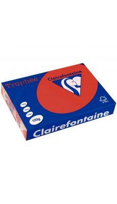Clairefontaine - 1218 - Ramette papier A4 120g - Rouge groseille - 250 Feuilles