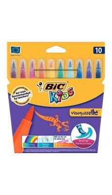 Bic kids - 8299871 - Feutre Visaquarelle pointe pinceau - Lot de 12 pochettes de 10