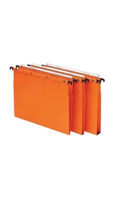 L'OBLIQUE - 100330275 - Dossier suspendu pour tiroir - Dos V - Orange - Paquet de 10