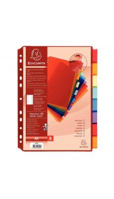 Exacompta - 3908E - Intercalaire Personnalisable polypropylène A4 - Assortie - jeu de 8