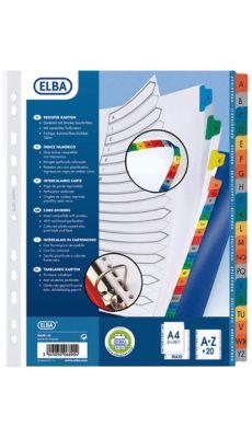 Intercalaires alphabetiques carte a/z A4+ mylar - jeu de 20