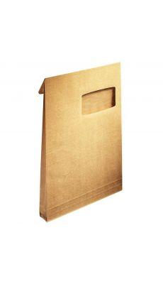 Enveloppe kraft armé C4 229x324 soufflet 3cm à fenêtre - Paquet de 50 pochettes