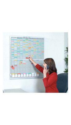 Acco - 2911200 - Planning annuel 54 fentes - Format 96x77 cm