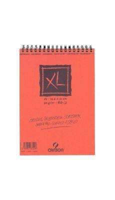 Canson - 787220 - Album spirale Croquis XL petit côté 14,8x21cm 90g - 60 feuilles