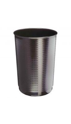 CEP - 1330103 - Corbeille papier ronde 40L  décor façon tressé. Noir