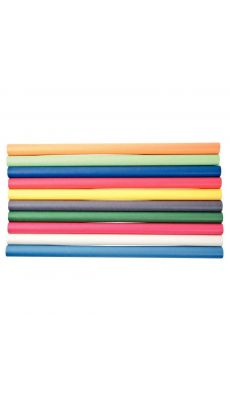 MAILDOR - 95779MAJUSC - Rouleau kraft 3mx0,7 couleur assorti - boite de 10