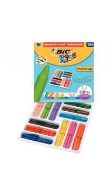 Bic kids - 857264 - Craie de couleur Plastidécor triangulaire - Class pack de 144