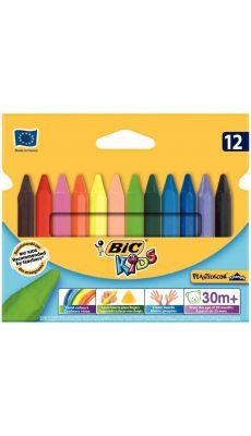Bic kids - 400078 - Craie de couleur Plastidécor triangulaire - Etui de 12