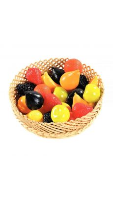 Fruit plastique assorti - sachet de 24
