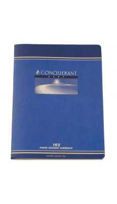 Conquerant - 192 - Cahier piqûre grand carreaux - 17x22 cm - 192 Pages