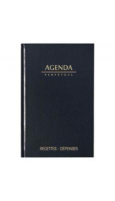 LECAS - 10702 - Agenda perpetuel caisse 14x22cm noir Lecas