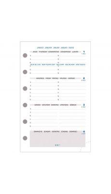 Exacompta - 14212E - Recharge EXATIME 14 - La semaine sur 2 pages