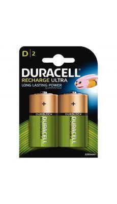 Duracell - 055995 - Pile rechargeable NIMH HR20 - Blister de 2