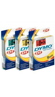 Dymo - 45808 - Ruban cassette - 19mm x 7m - Noir sur Jaune